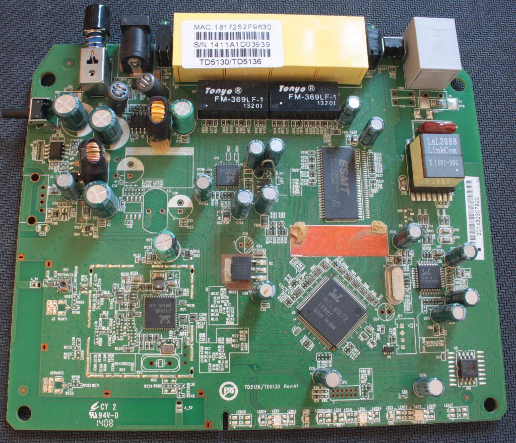 Placa base del router Technicolor TD5130